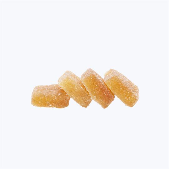 Sour peach gummies